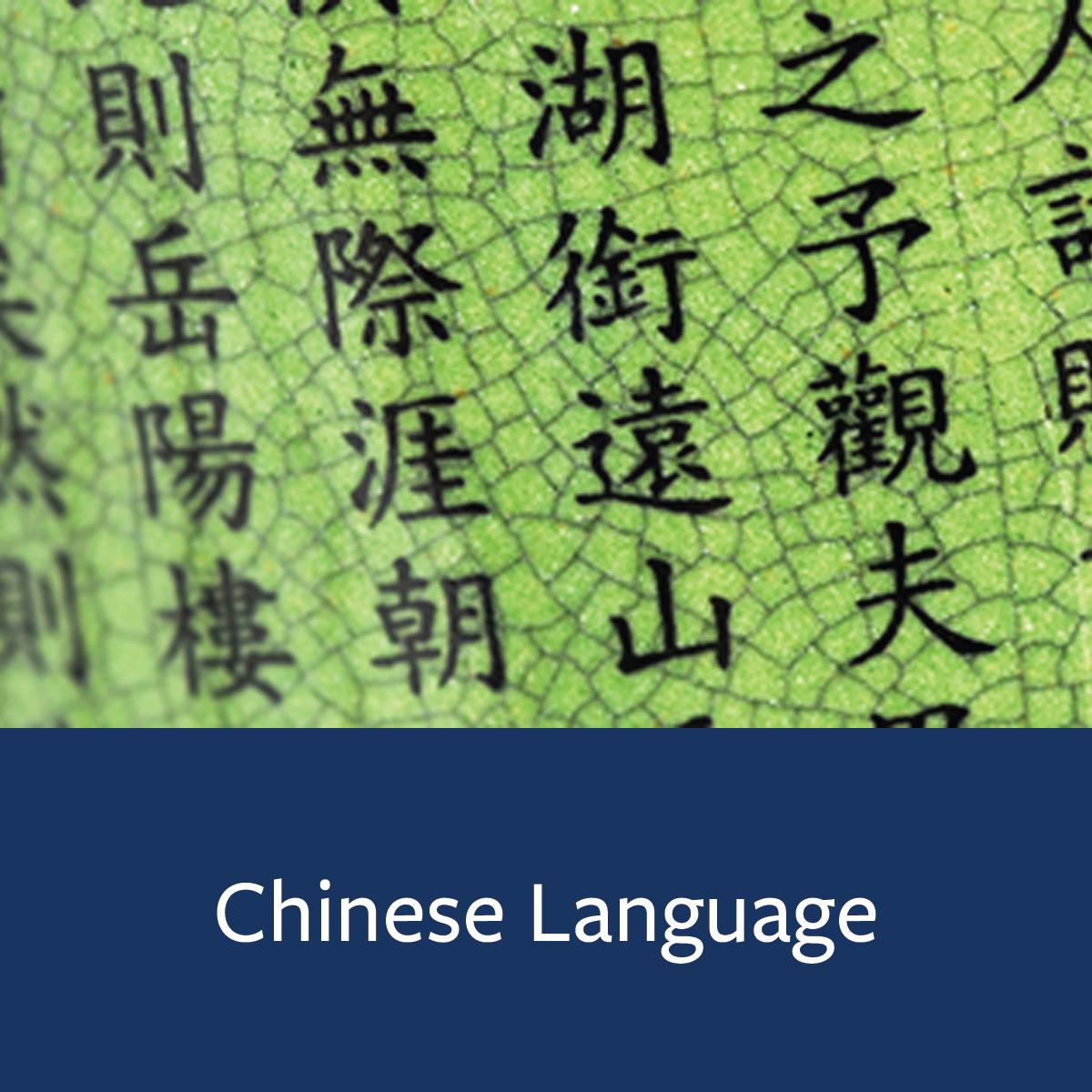 Chinese Language Major Map