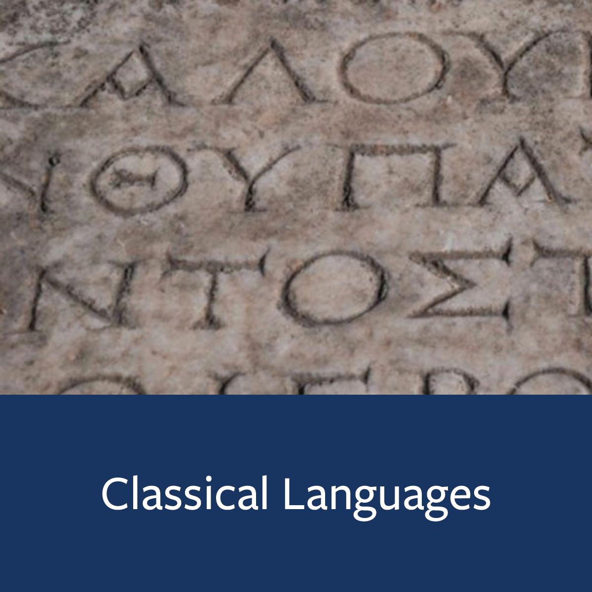 Classical Languages Major Map