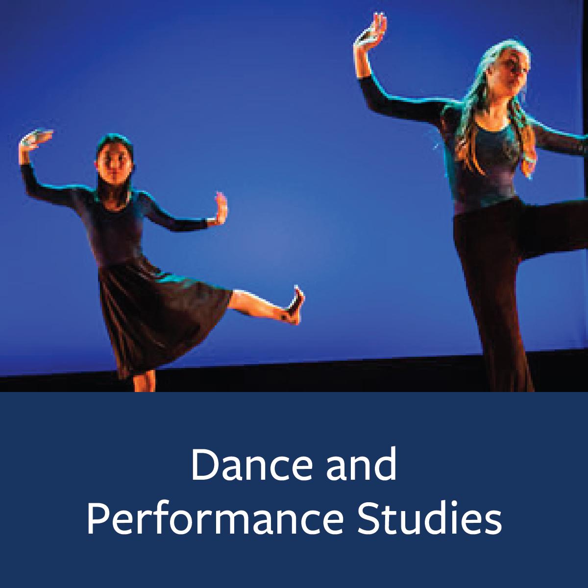 Dance and Performance Studies Major Map