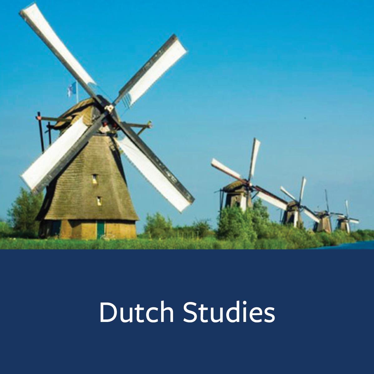 Dutch Studies Major Map