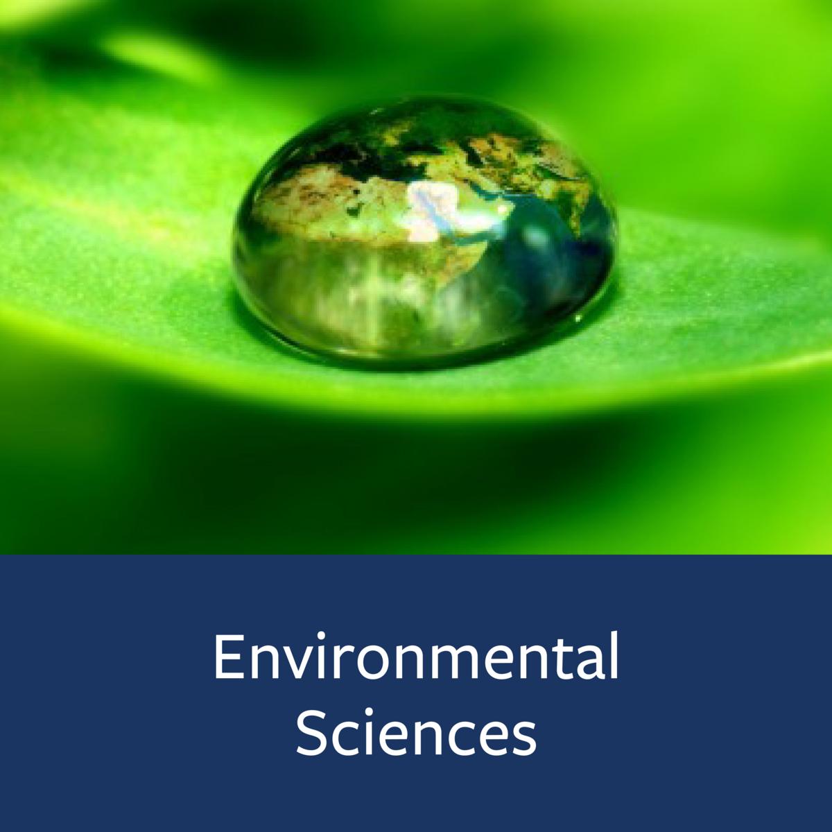 Environmental Sciences Major Map