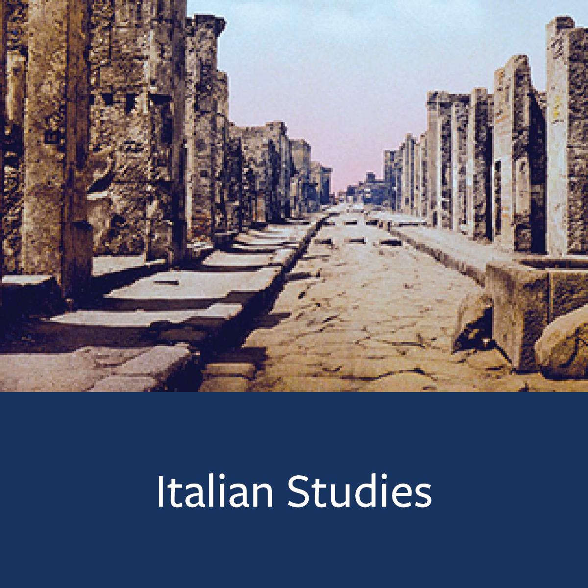 Italian Studies Major Map